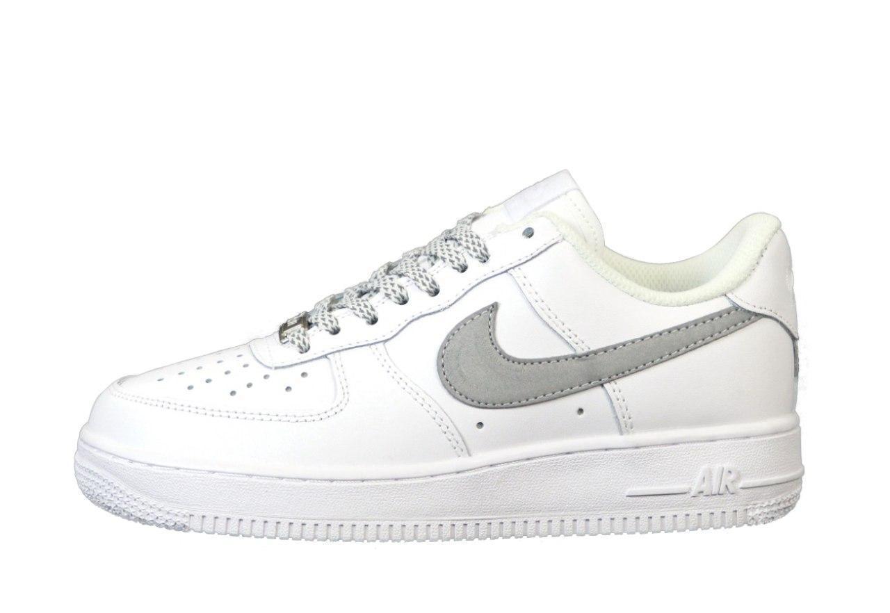 Кеды рефлективные мужские Nike Air Force 31446 белые