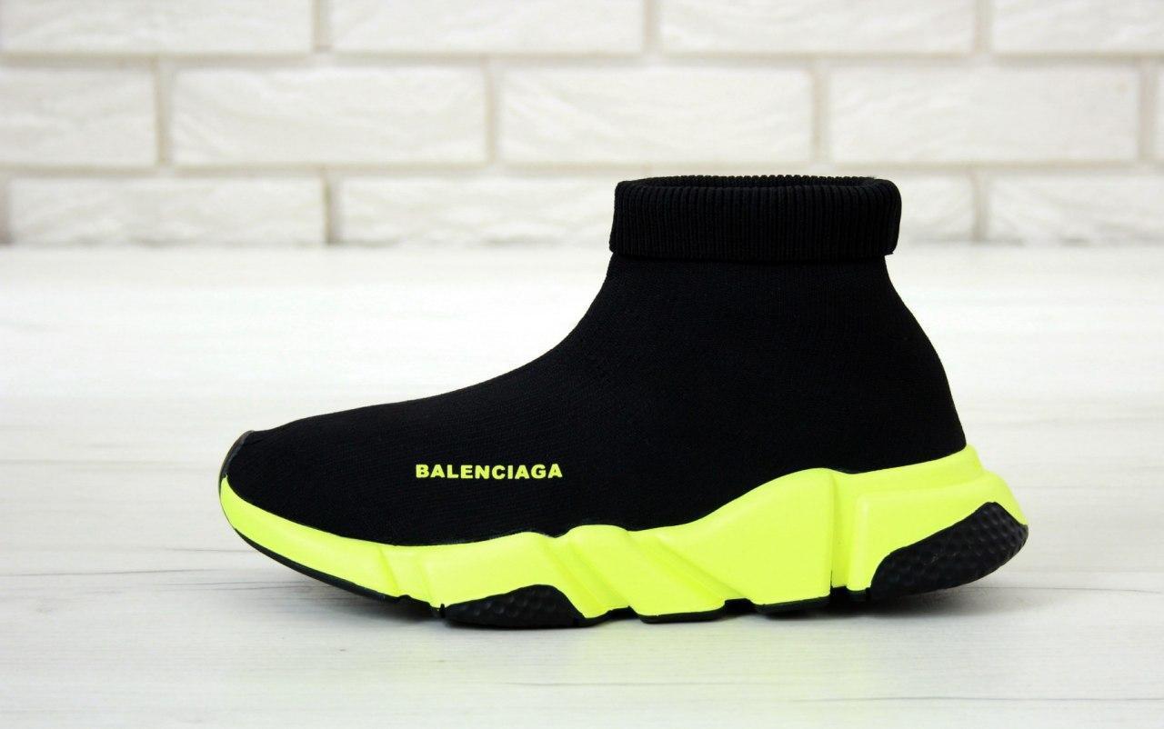 Кроссовки женские Balenciaga Speed Trainer 31435 черные