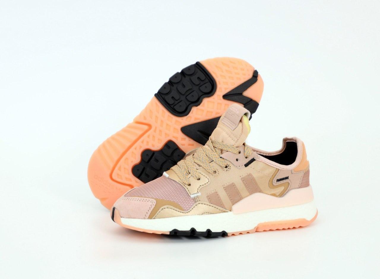 Женские кроссовки Adidas Nite Jogger 31494 пудровые