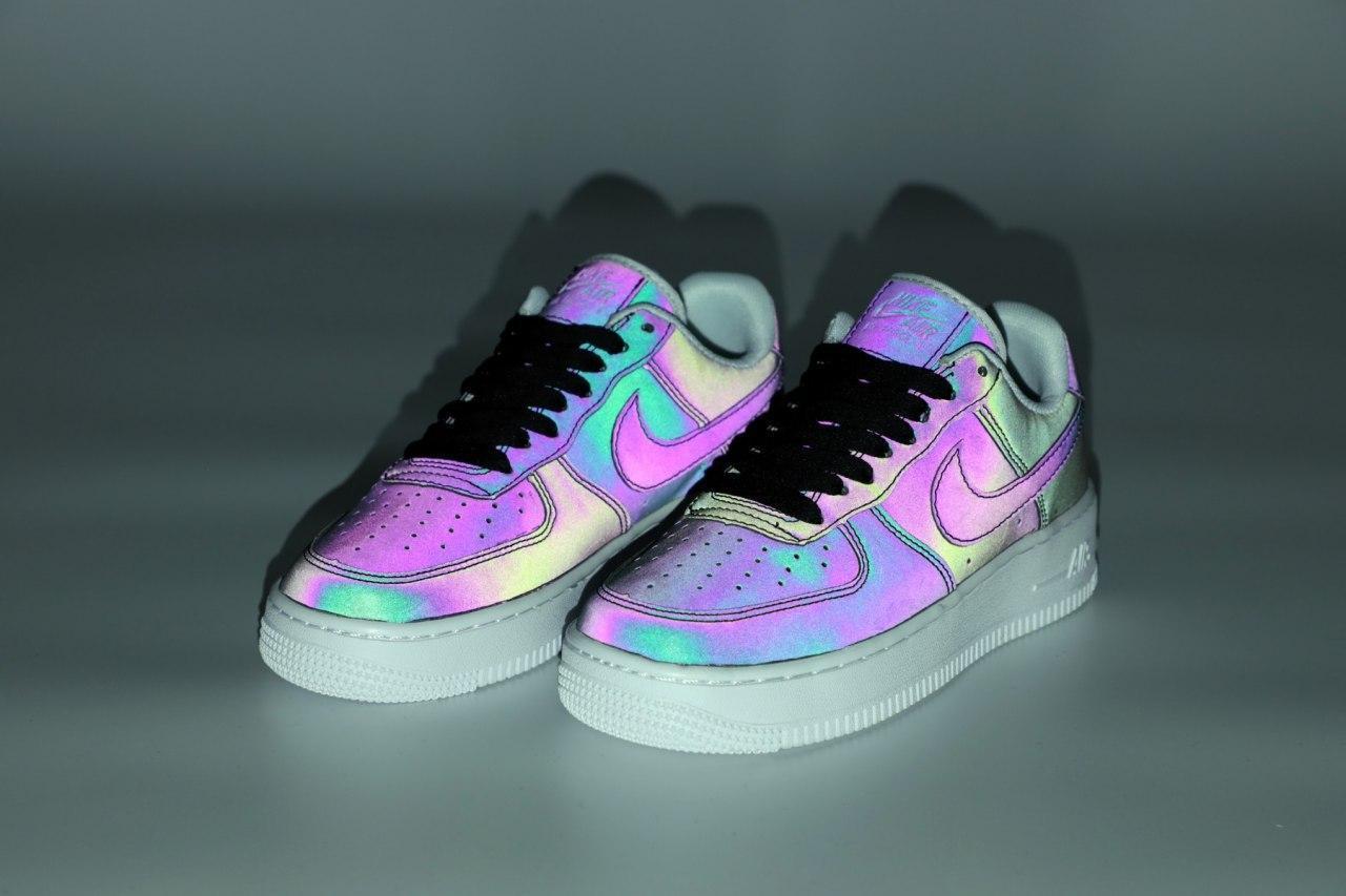 Женские кроссовки Nike Air Force 31506 рефлективные