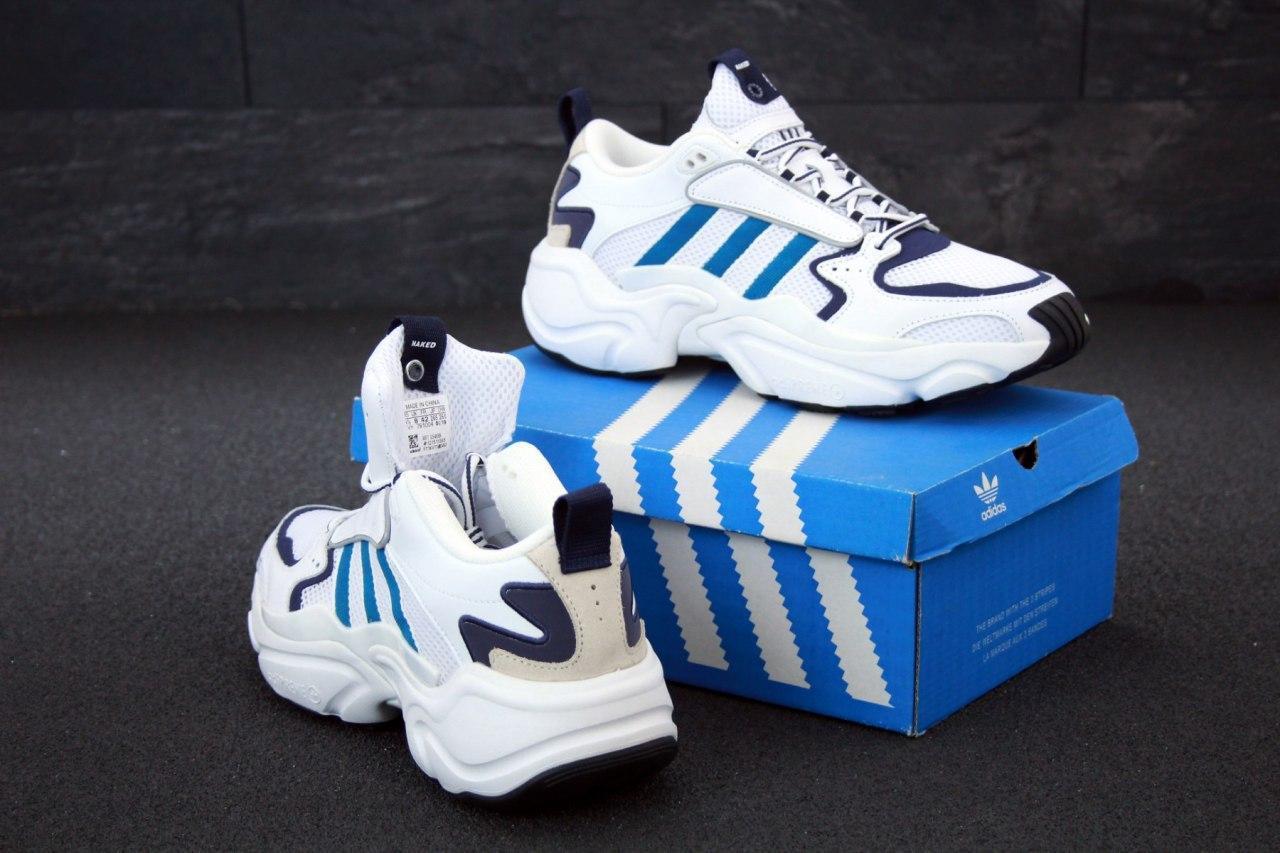 Кроссовки мужские Adidas Consortium x Naked Magmur Runner 31424 белые