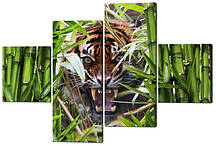 Сегментна картина Оскал тигра W534