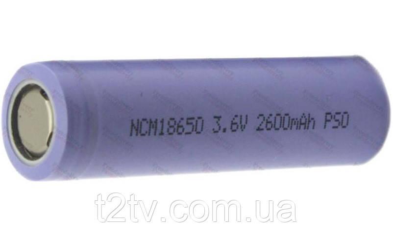 Аккумулятор 18650 Li-ion 3.6В 2600мАч плоский конт