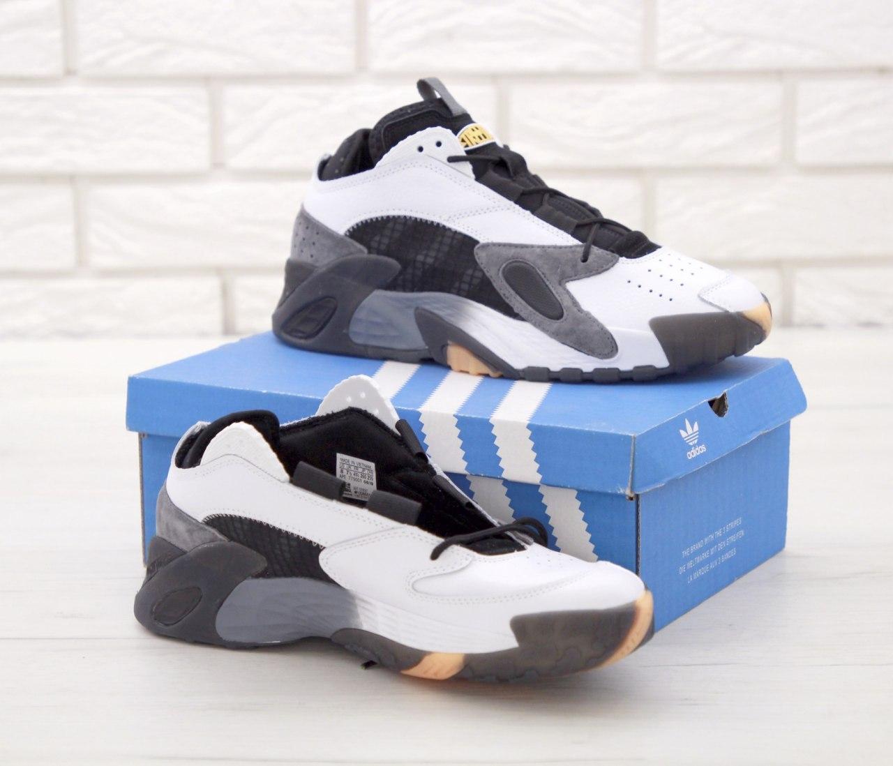 Кроссовки мужские Adidas StreetBall 31445 серо-белые
