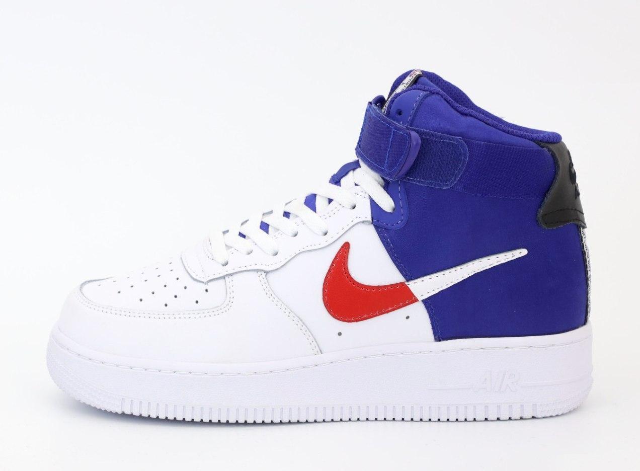 Мужские кроссовки Nike Air Force 31491 бело-синие