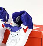 Мужские кроссовки Nike Air Force 31491 бело-синие, фото 5