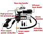 Насос автомобильный с манометром, Компрессор HH399 AIR COMRPRESSOR (SINGLE BAR GAS PUMP), фото 4