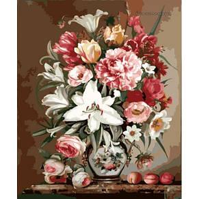 Каритна на холсте Весенний букет, фото 2