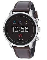 Смарт часы Fossil Men's Gen 4 Explorist HR Smartwatch Google Wear OS Цвет Silver, Brown