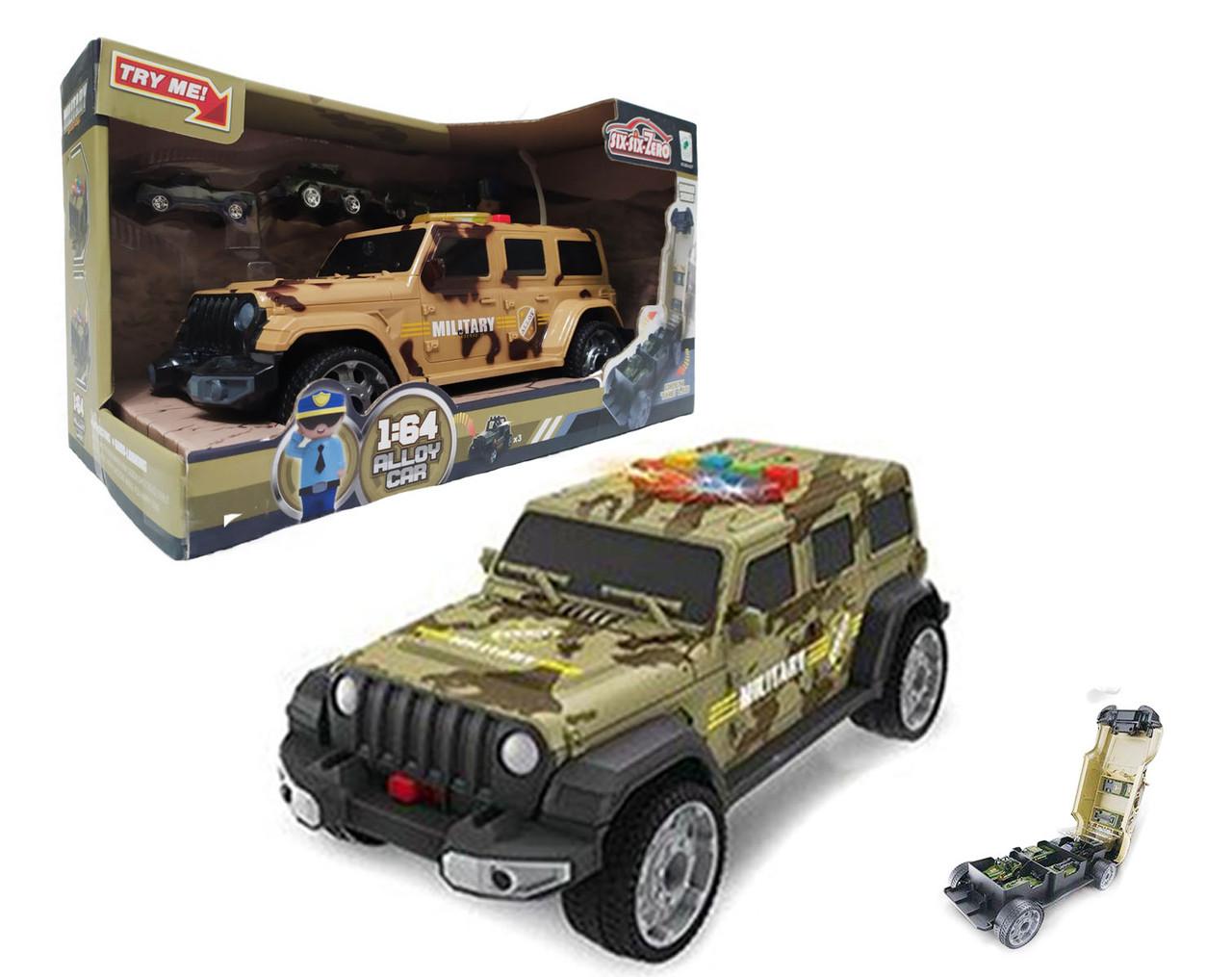 Машина-гараж military 660-A257
