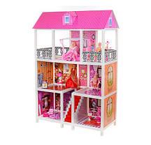 Кукольный домик для Барби 66885. Трехэтажный. 5 кукол, фото 3