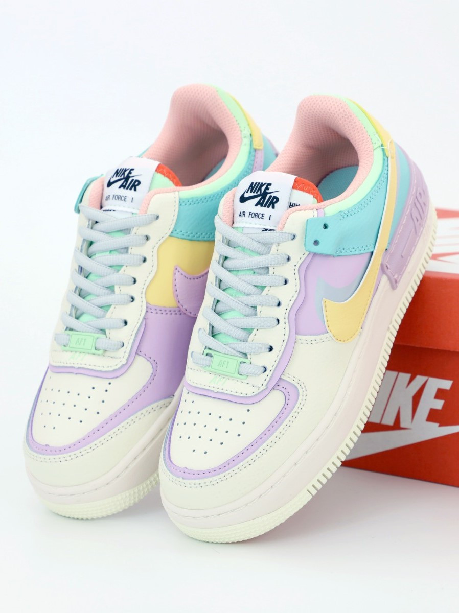 Женские кроссовки Nike Air Force 1 Low White, Purple