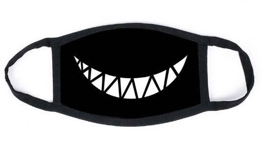 Маска на лицо черная Улыбка Охры, фото 2