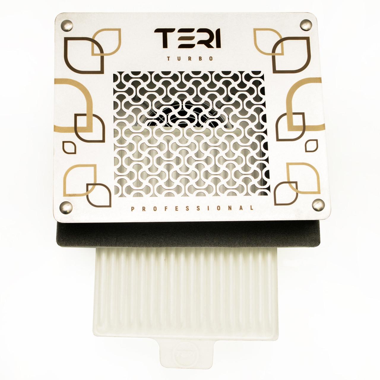 Витяжка для манікюру вбудована пилосос Teri Turbo професійна манікюрна витяжка з HEPA фільтром