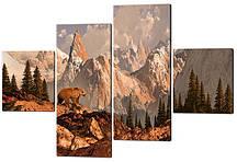 Модульна картина Ведмідь в горах Код: W468