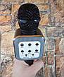 Ручной микрофон караоке для пения, беспроводный с динамиком (Bluetooth) WS-1818 черный (Реальные фото), фото 3