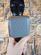 Ручной микрофон караоке для пения, беспроводный с динамиком (Bluetooth) WS-1818 черный (Реальные фото), фото 5