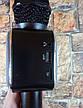 Ручной микрофон караоке для пения, беспроводный с динамиком (Bluetooth) WS-1818 черный (Реальные фото), фото 6