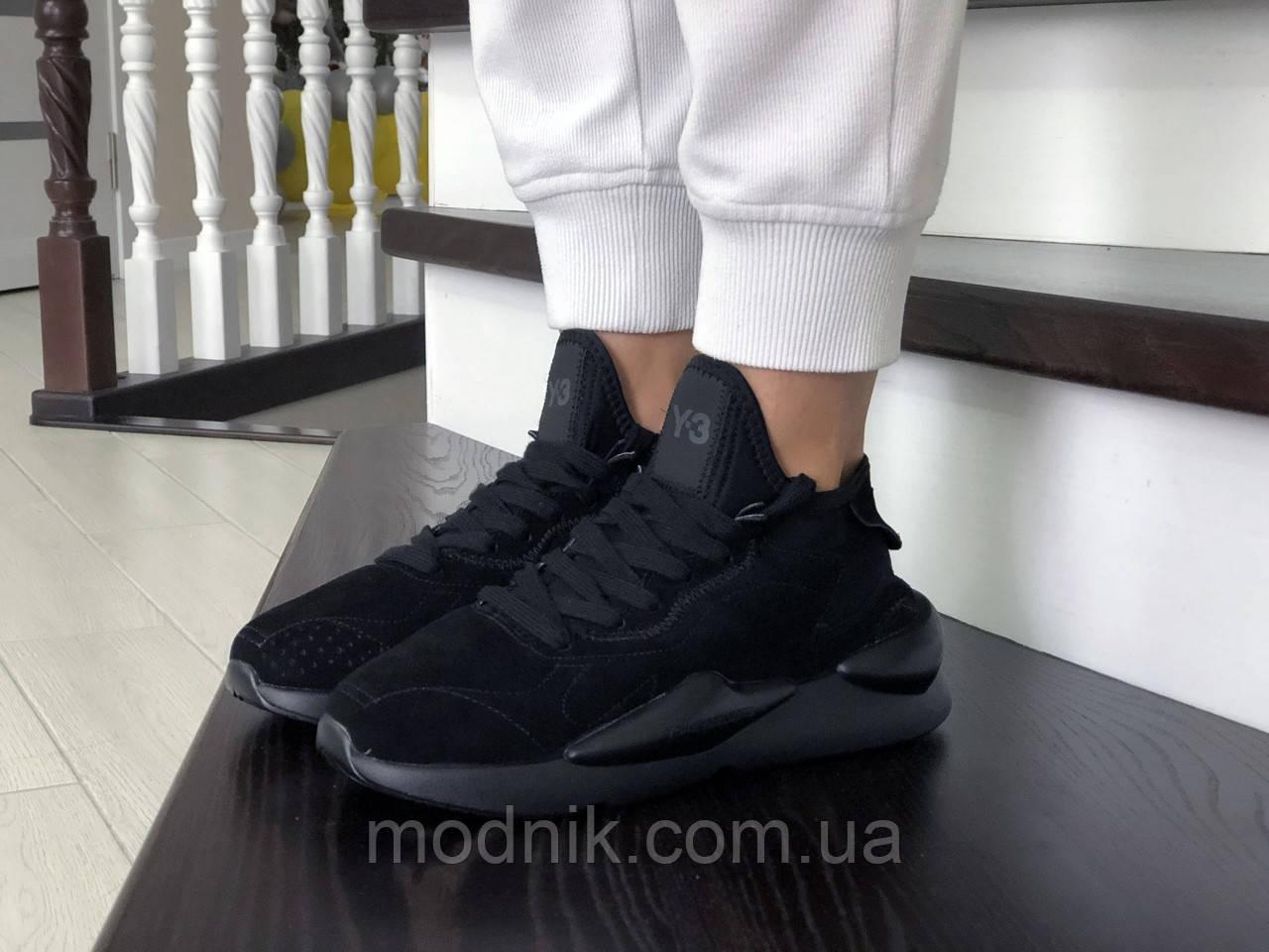 Женские кроссовки Adidas Y-3 Kaiwa (черные)