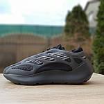 Мужские кроссовки Adidas Yeezy 700 V3 (черные) Рефлектив, фото 2