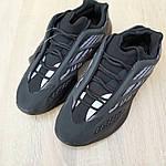Мужские кроссовки Adidas Yeezy 700 V3 (черные) Рефлектив, фото 5
