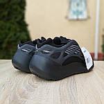 Мужские кроссовки Adidas Yeezy 700 V3 (черные) Рефлектив, фото 6