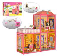 Кукольный дом для Барби 6984. Двухэтажный 3 комнаты с мебелью. Веранда
