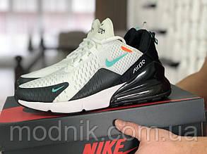 Мужские кроссовки Nike Air Max 270 (бело-мятные)