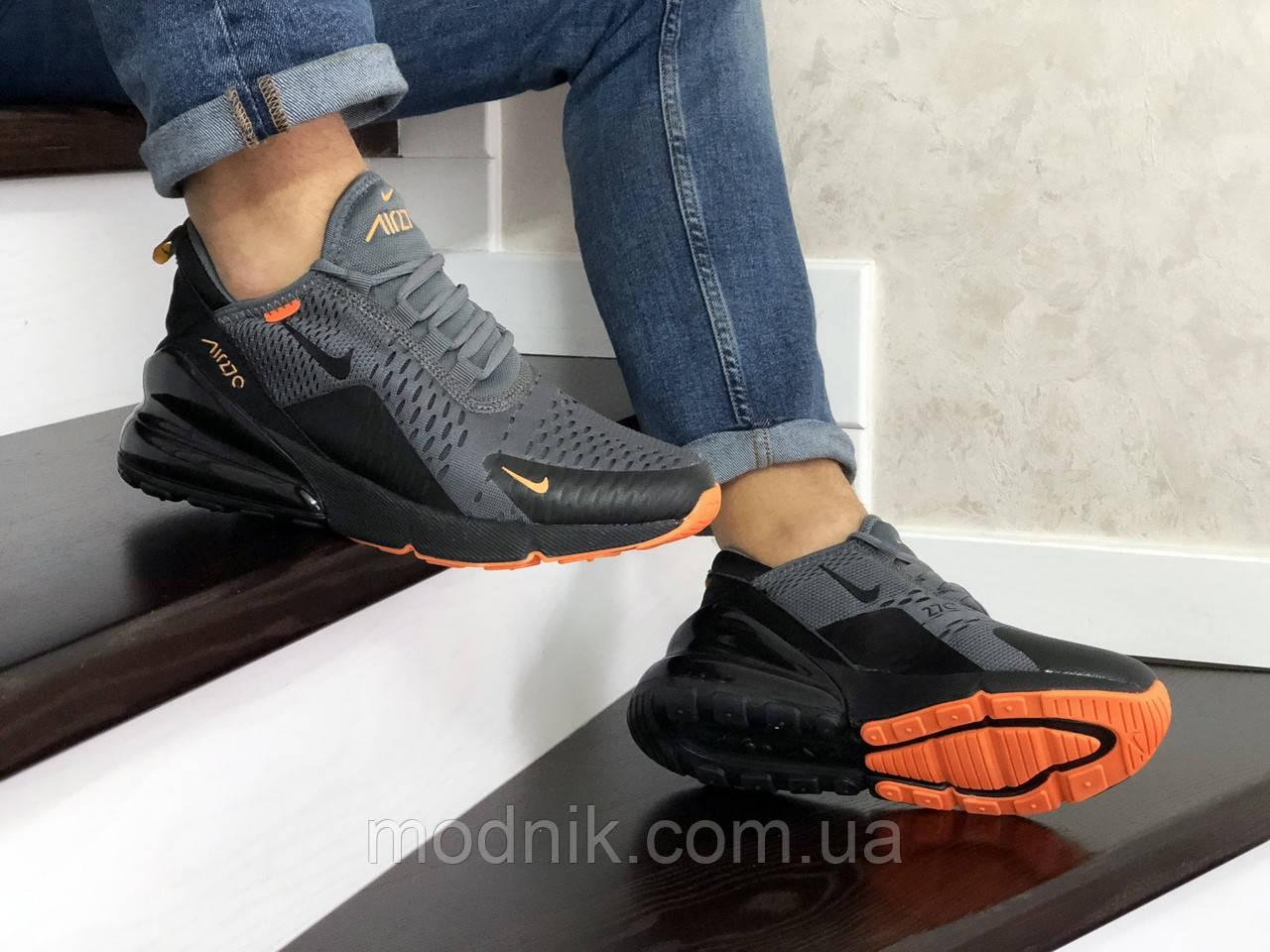 Мужские кроссовки Nike Air Max 270 (серо-черные)