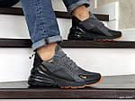 Мужские кроссовки Nike Air Max 270 (серо-черные), фото 2