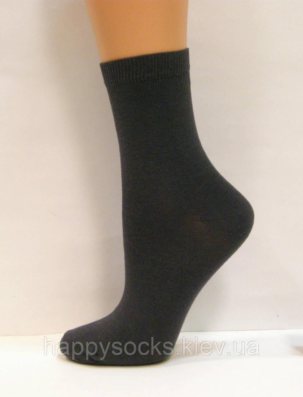 Хлопковые носки для мальчиков серого цвета 20см(30-32р)