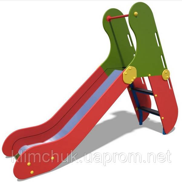 Гірка мала, висота спуску 0.9 м. від земі, для дитячих ігрових майданчиків KidSport