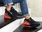 Мужские кроссовки Nike Air Max 270 (черно-белые с оранжевым), фото 2