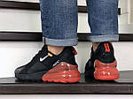 Мужские кроссовки Nike Air Max 270 (черно-белые с оранжевым), фото 3
