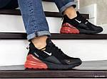 Мужские кроссовки Nike Air Max 270 (черно-белые с оранжевым), фото 4