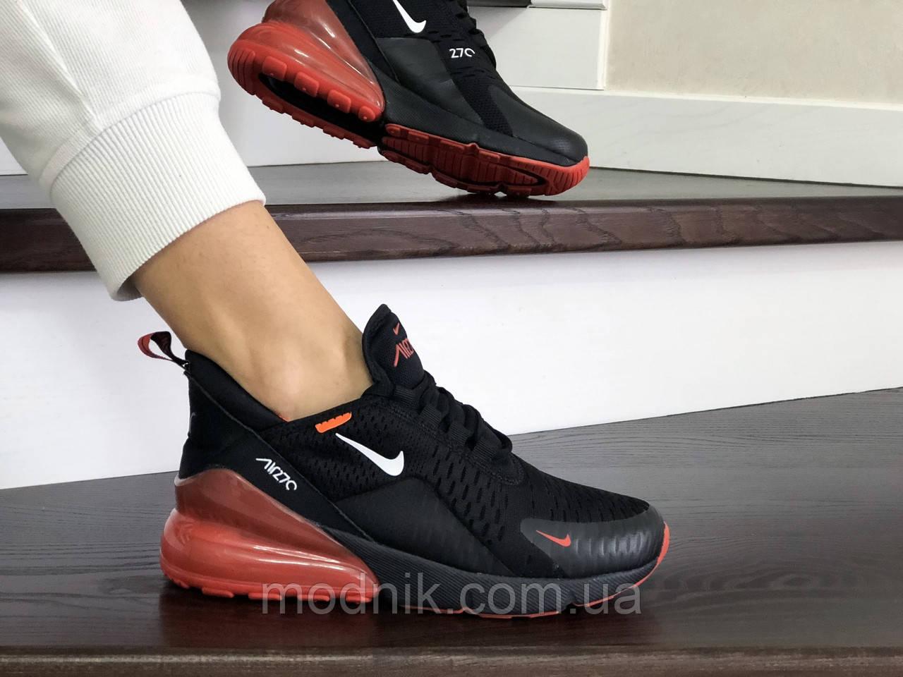 Женские кроссовки Nike Air Max 270 (черно-красные) - Индонезия