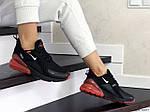 Женские кроссовки Nike Air Max 270 (черно-красные) - Индонезия, фото 2