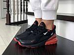 Женские кроссовки Nike Air Max 270 (черно-красные) - Индонезия, фото 3