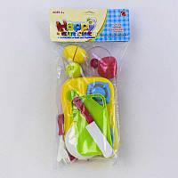 Игровой набор посуды с продуктами на липучках