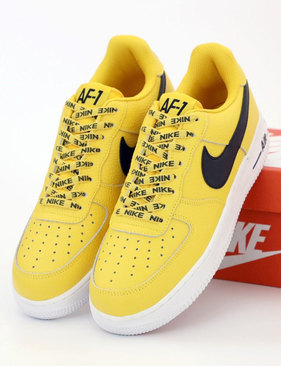 Мужские кроссовки Nike Air Force 1 Low Yellow (Найк Аир Форс)