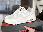 Чоловічі кросівки Nike Air Max 1 Ultra Moire (білі) - Рефлектив - Індонезія, фото 5