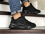 Чоловічі кросівки Nike Air Max 720 (чорні), фото 4