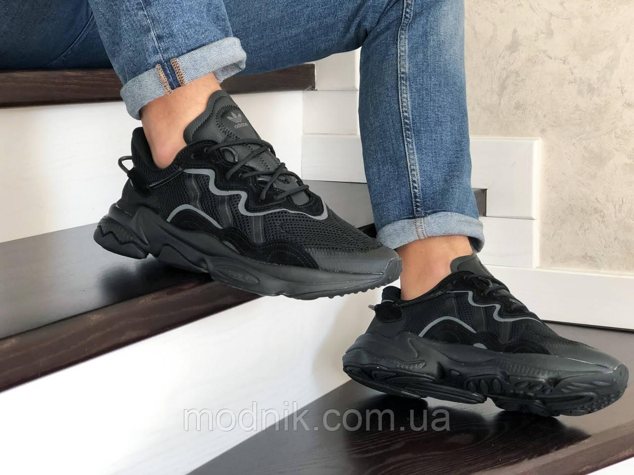 Мужские кроссовки Adidas Ozweego TR (черные) - весна-осень
