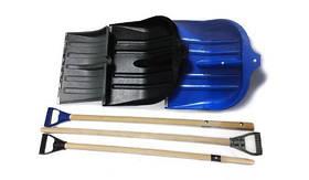 Лопата для снега (АВС синий + черенок)  490х495 мм
