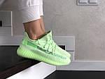 Женские кроссовки Adidas x Yeezy Boost (салатовые), фото 2