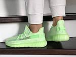 Женские кроссовки Adidas x Yeezy Boost (салатовые), фото 3