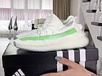 Женские кроссовки Adidas x Yeezy Boost (бело-зеленые), фото 4