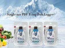 Одноразовый регистратор температуры Tempu TZ-TempU02 EN12830 (-30 + 70 С; ±0.5 С) 60 дней. IP67. PDF. Тайвань, фото 3