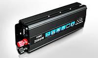 Инвертор автомобильный 2000W, Преобразователь напряжения AC/DC 2000W, Скидки