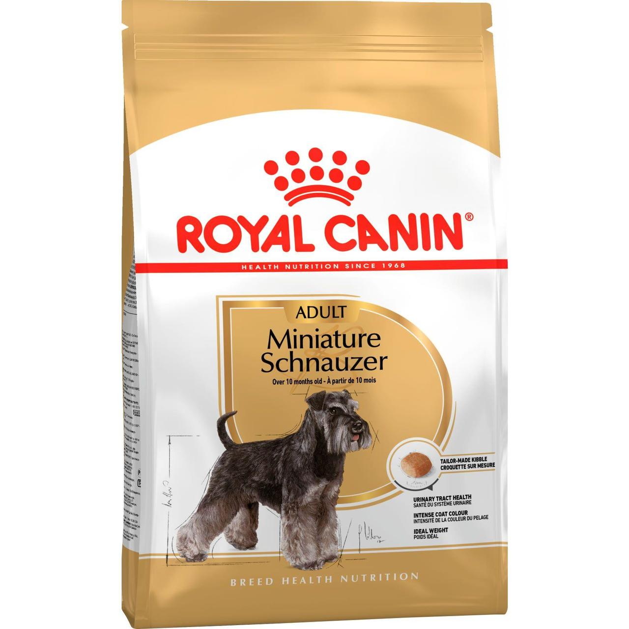 Корм для шнауцеров Royal Canin Miniature Schnauzer, 7,5 кг, роял канин